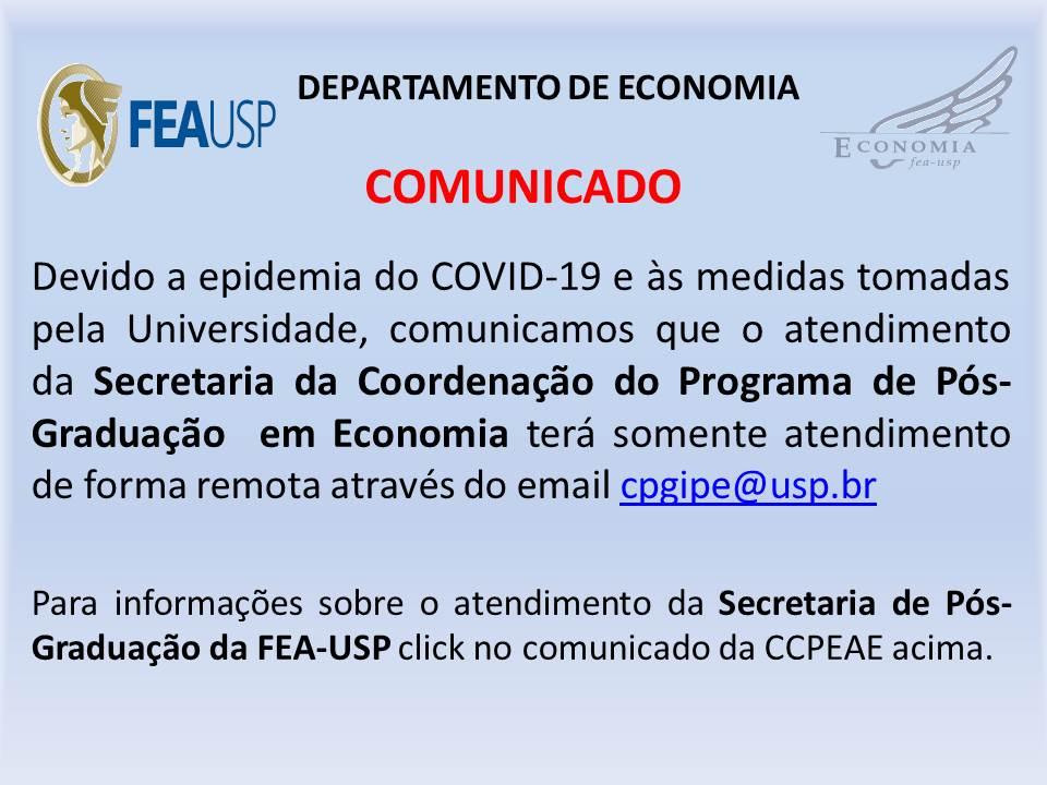 COMUNICADO DA CCPEAE