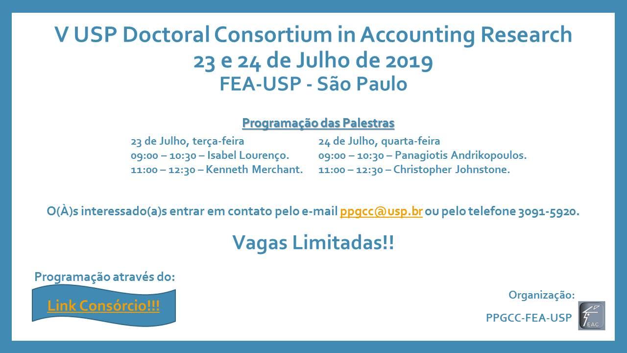 Convite Palestras Consórcio Doutoral