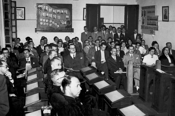 Aula inaugural e homenagem ao Prof. Francisco D´Áuria em 1956