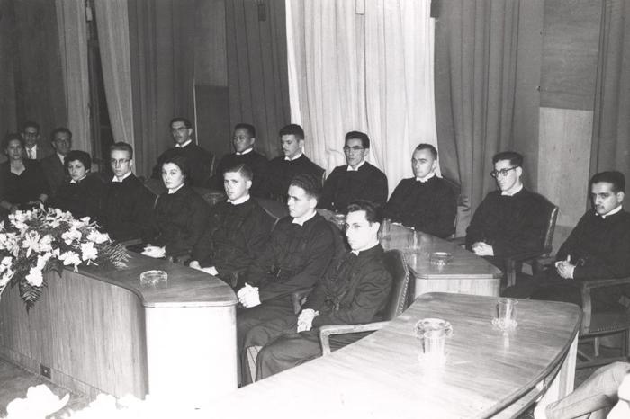 Colação de grau da turma de 55 em 1956