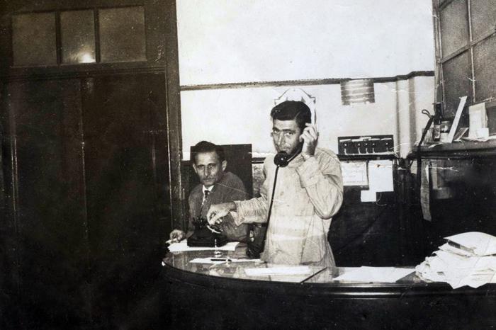 Em 1965 Portaria da FCEA_João Martinez Alba e Luiz Alba Martinez