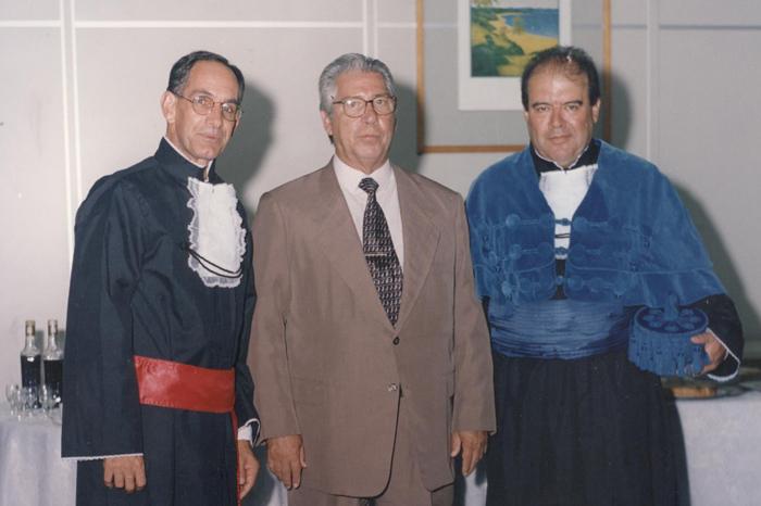 1999 - Prof. Reinaldo Guerreiro, governador Mário Covas e prof. Denisard Alves