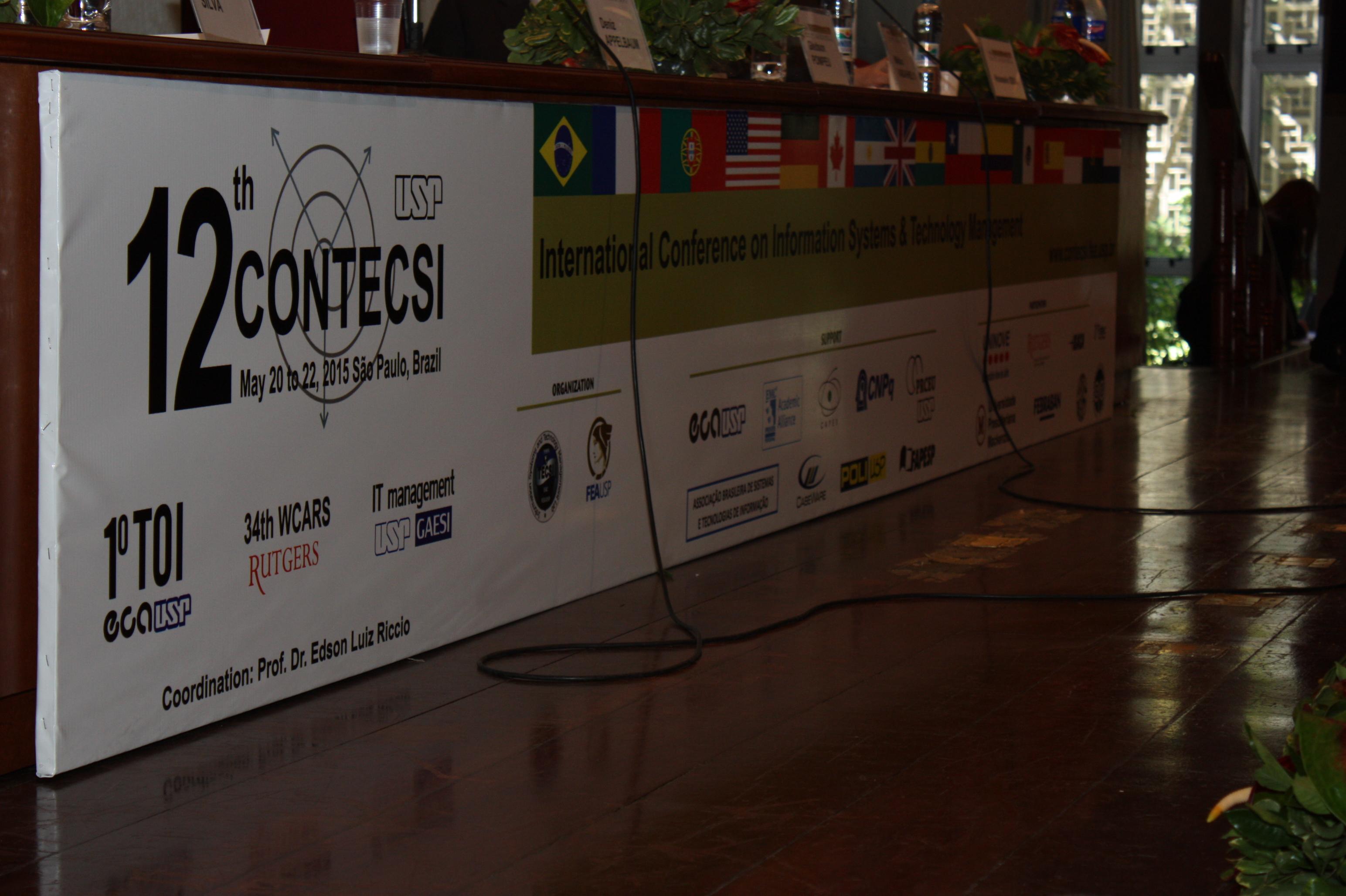 Vista de detalhe do logotipo do 12º CONTECSI