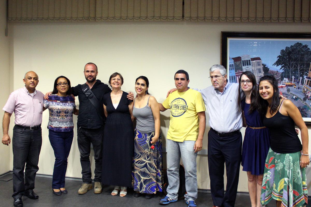 Equipe organizadora do evento e vencedores
