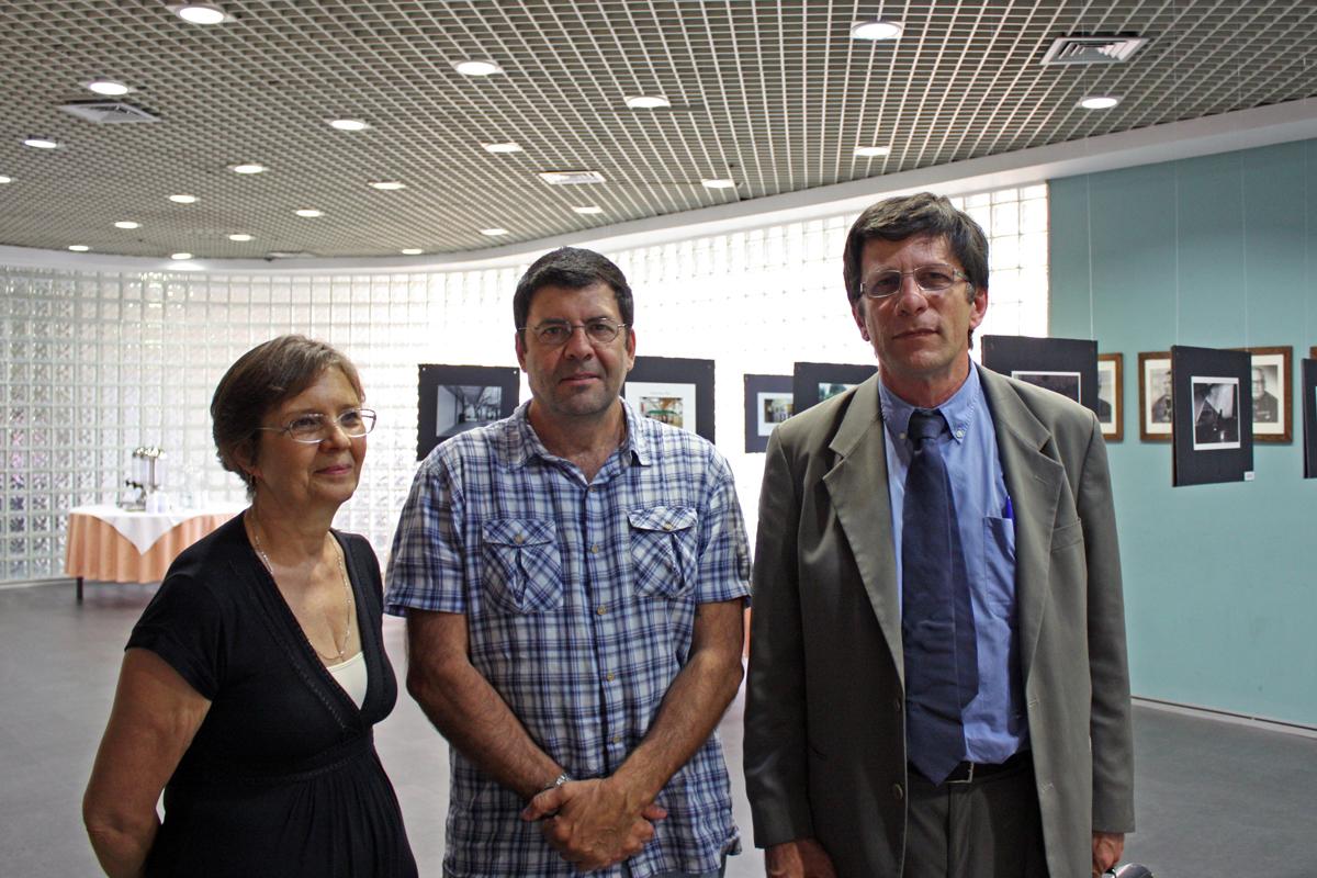 Professora Denise Cirillo, Fernando Costa Netto e Moacyr Ayres Novaes Filho