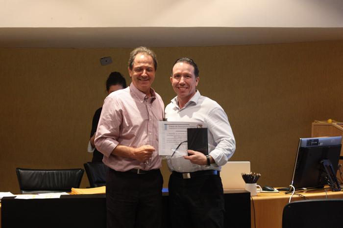 Professores Roberto Sbragia e Marcelo Pedroso