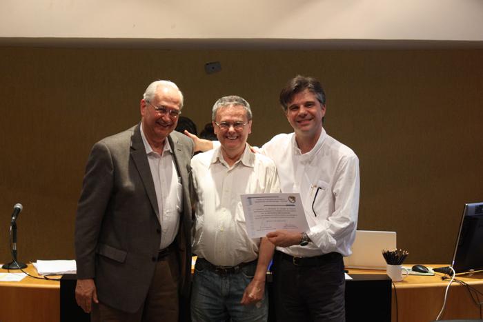 Professores Adalberto Fischmann, José Afonso Mazzon e João Mauricio Boaventura