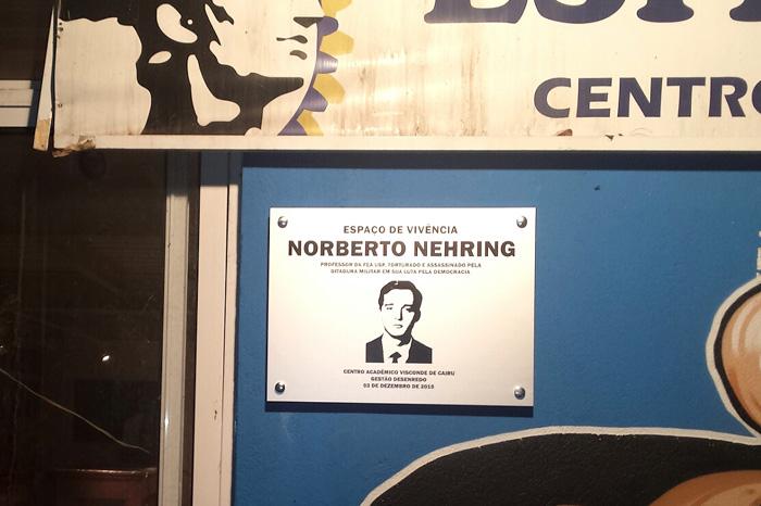 2015 - Inauguração da placa Norberto Nehring nos 70 anos do CAVC
