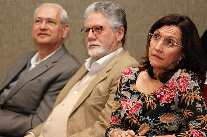 Professores Adalberto Fischmann e Hélio da Cruz