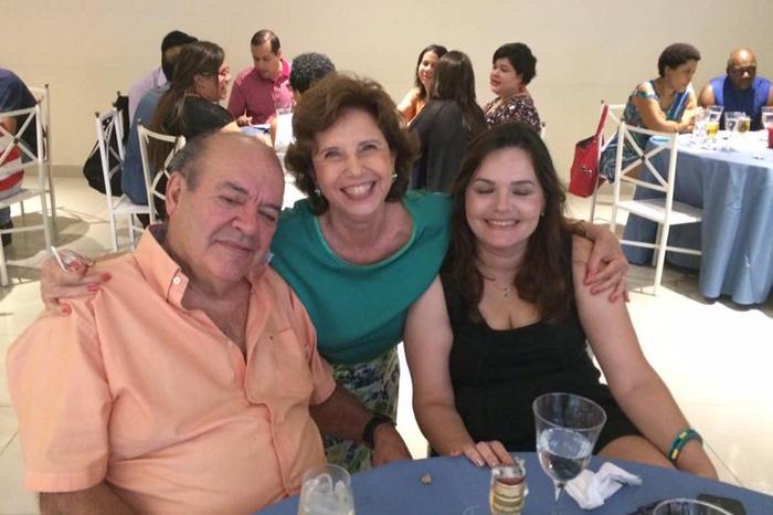 Prof. Denisard, Olga Miranda e Alda
