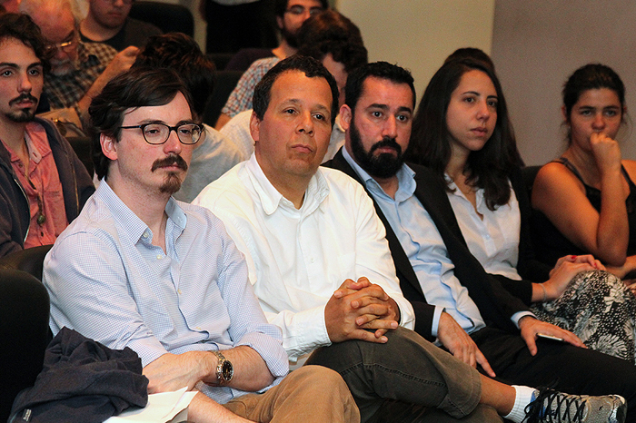 Organizador do evento, Prof. Fernando Rugitsky e demais palestrantes