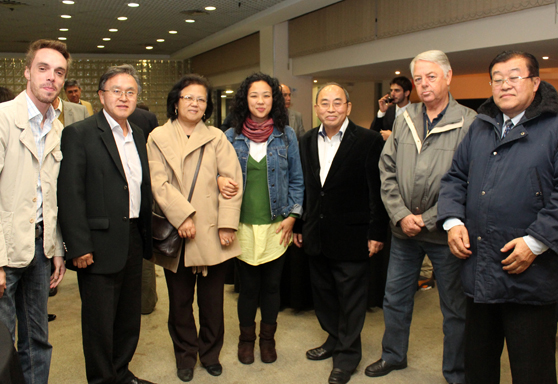 Foto com os integrantes do evento