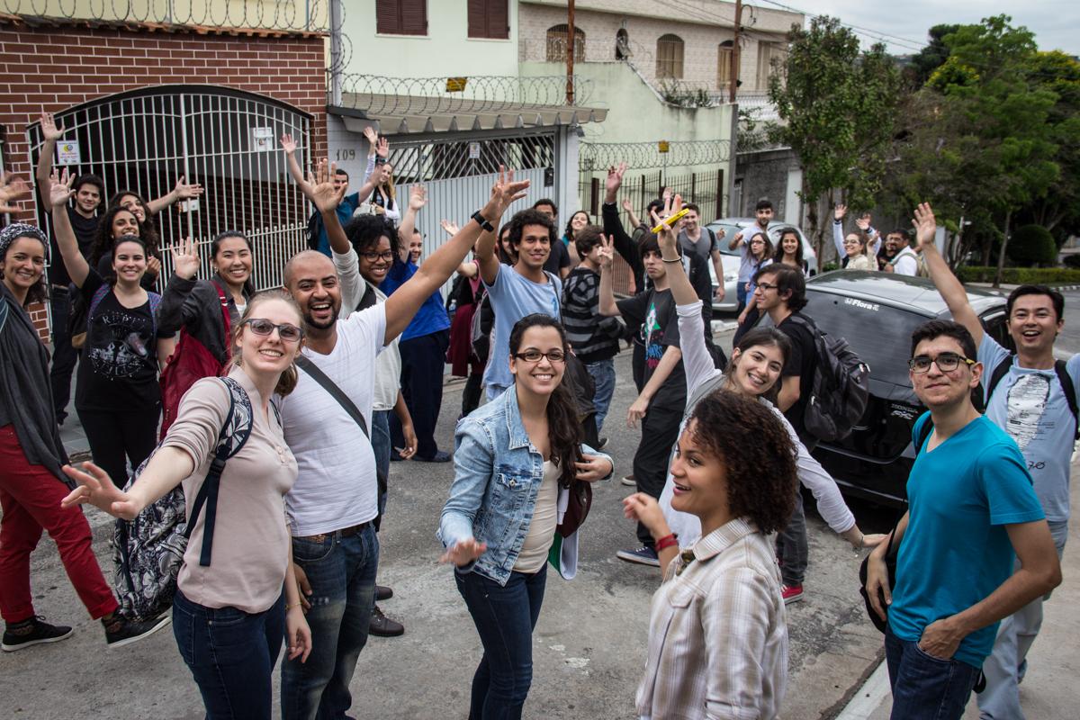 Visita dos alunos da disciplina ao Capão Redondo