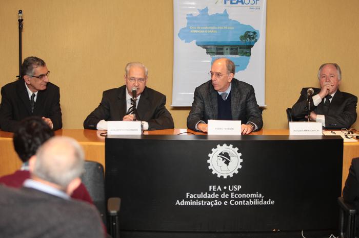 Vahan Agopyan, Adalberto Fischmann, Pedro Parente e Jacques Marcovitch