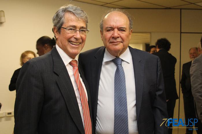 Professores André Franco Montoro e Denisard Alves