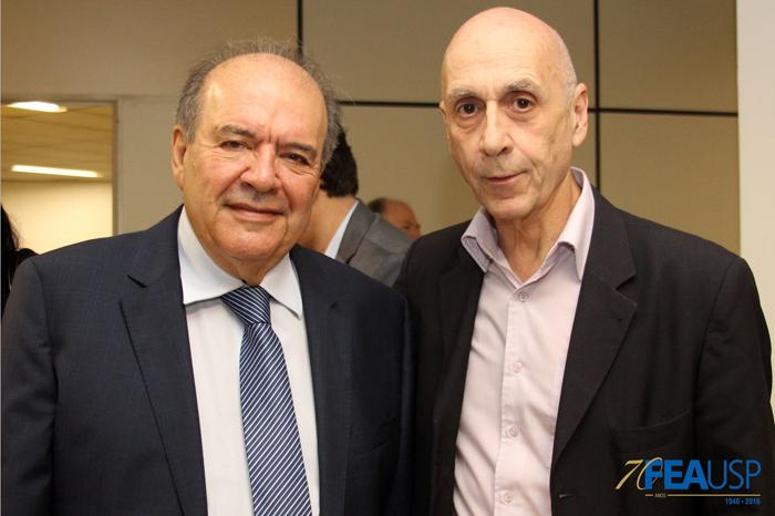 Prof. Denisard com Prof. Paulo Feldmann
