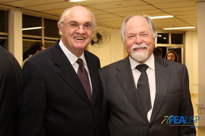 Professor Lindolfo com o Prof. Jacques Marcovitch