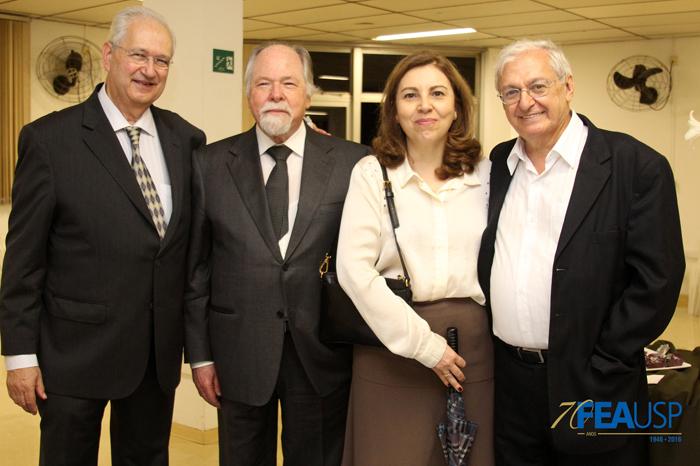 Professores Adalberto, Jacques, Dolores e Carlos Luque