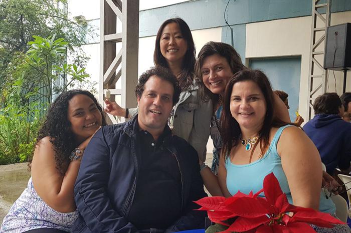 Colaboradores na festa de final de ano