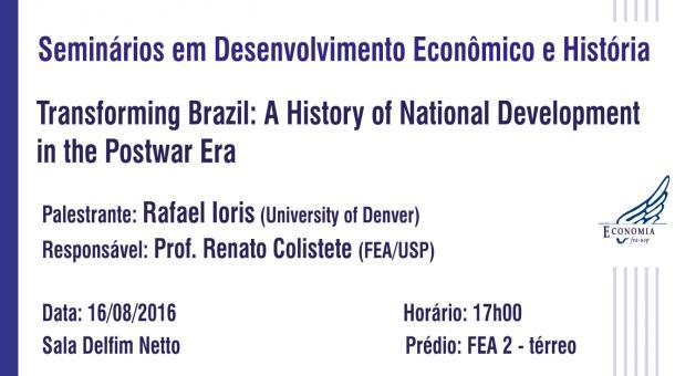Seminários em Desenvolvimento Econômico e História