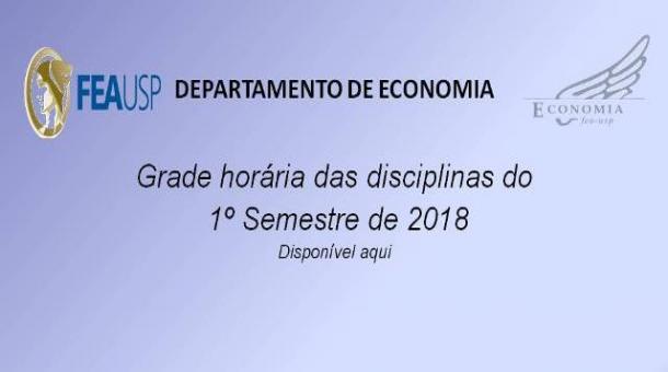 Disciplinas da Pós-Graduação em Economia  -  1º Semestre de 2018