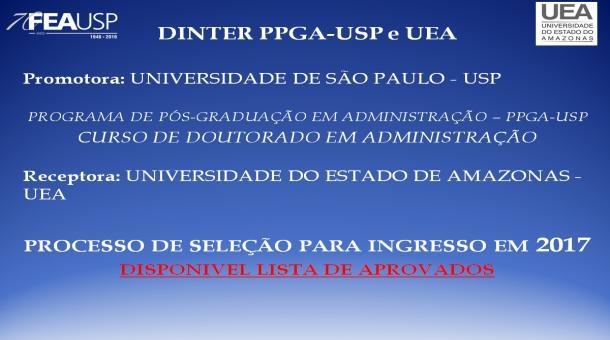 RESULTADO DINTER - PPGA/UEA