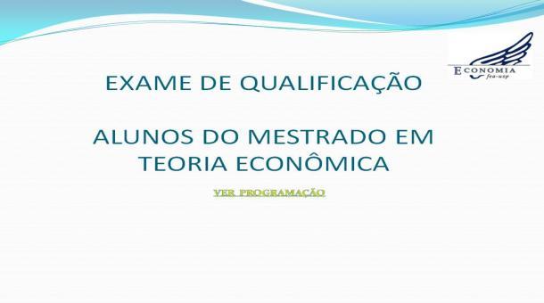 Exame de Qualificação - Mestrado EAE