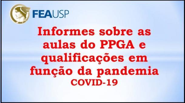 Informe aulas e qualificações PPGA