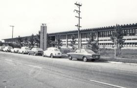 Fachada da FEA na década de 70