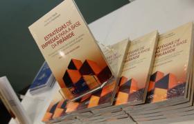 livros Estratégias de Empresas para a Base da Pirâmide na mesa