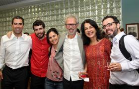 Professor  Ricardo Abramovay e família