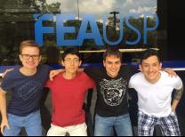 Os quatro membros da equipe de 2017 perfilados