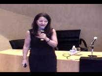 foto da palestrante Dra. Edinalva Cruz no centro da tela durante o evento