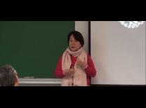 Glaucia Terreo durante a palestra